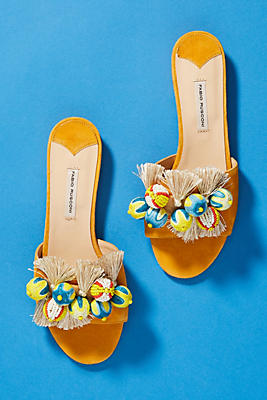 Fabio Rusconi Pom Slide Sandals