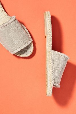 Mint & Rose Olivia Espadrille Slide Sandals by Mint & Rose