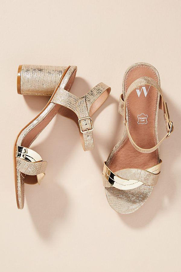 footlocker online Vanessa Wu Metallic Wave Heeled Sandals order online outlet cheap quality sale supply taSMgpcmTr