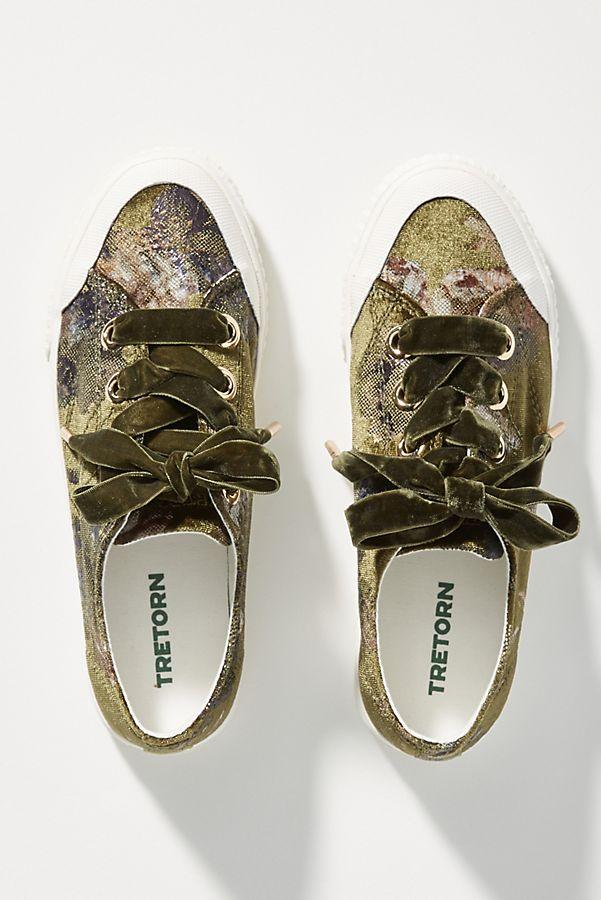 Tretorn Floral Velvet Sneakers   Anthropologie