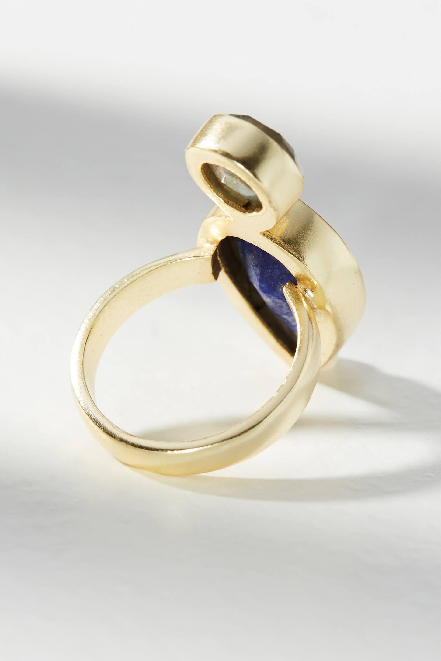 Kanupriya Ocean Stone Ring m1Chr