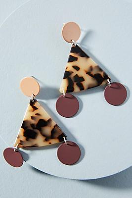 Bianca Mavrick Jewellery Terzetto Triangle Drop Earrings BSDlSr