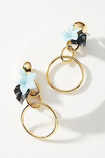 Lele Sadoughi Hibiscus Hoop Earrings AiQo7al4nm