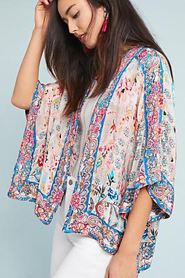 Slide View: 1: Addie Cropped Kimono