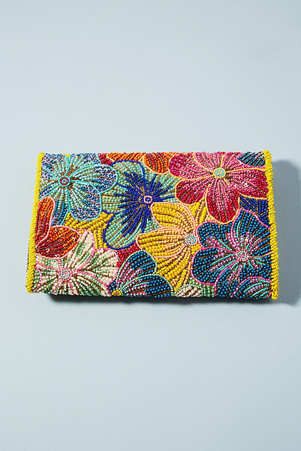 Slide View: 2: Sac-pochette Tropical Flower