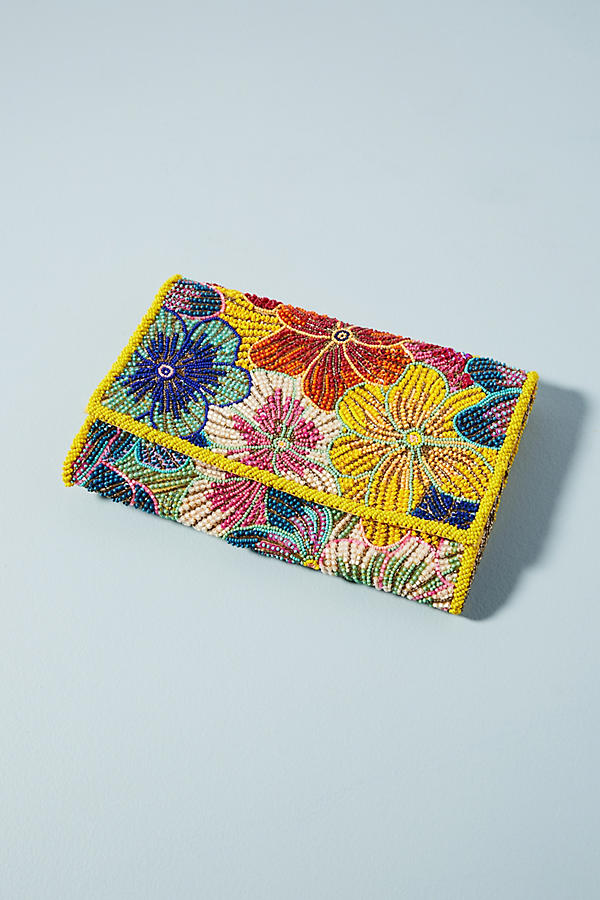 Slide View: 1: Sac-pochette Tropical Flower