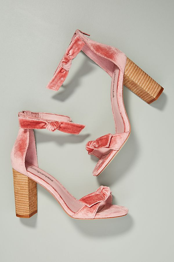 Jeffrey Campbell Velvet Bow Heeled Sandals | Anthropologie