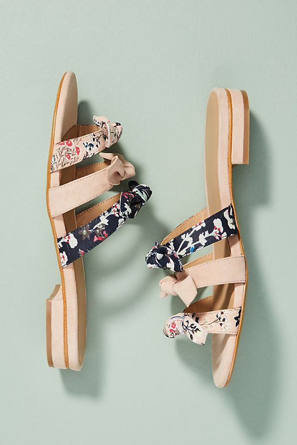 cheap sale brand new unisex clearance low price Anthropologie Graceful Bow Slide Sandals pNPwyn