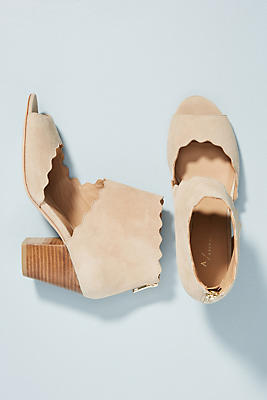Anthropologie Scalloped Shooties