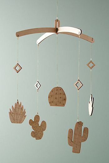 Baby shower gifts baby gift ideas anthropologie cactus garden mobile negle Choice Image