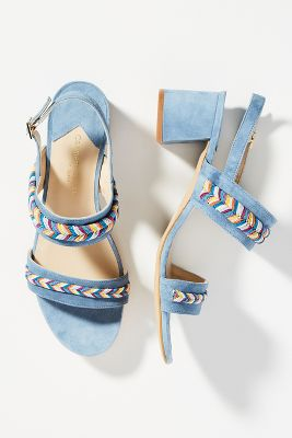 Carmen Salas Palma Rope Heeled Sandals by Carmen Salas