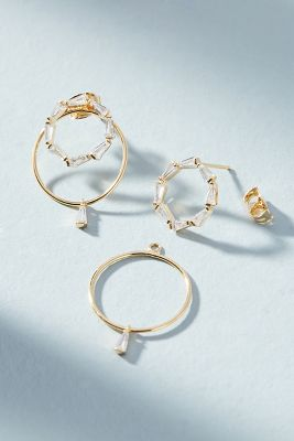 Aisling Front Back Earrings by Anthropologie