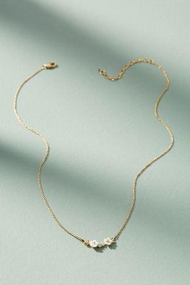 Fredrica Floral Pendant Necklace  -    WHITE