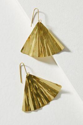 Sibilia   Ginkgo Leaf Drop Earrings  -    GOLD