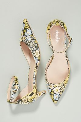 Charles David Brocade Kitten Heels by Charles David