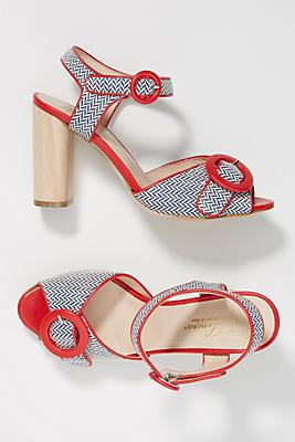 Slide View: 1: Lenora Lucy Peep Toe Heels