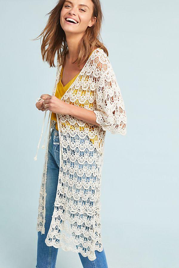 Slide View: 1: Josephine Crocheted Kimono