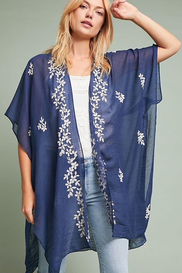 Slide View: 1: Mia Floral Kimono