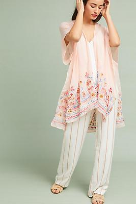 Slide View: 1: Meredith Embroidered Kimono