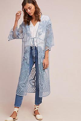 Slide View: 1: Monica Sheer Floral Kimono