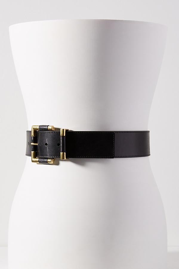 Heather Leather Belt - Black, Size M