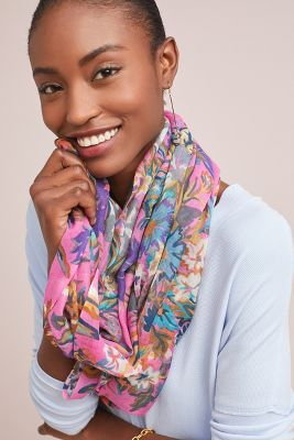 Wildflower Infinity Scarf  -    PINK
