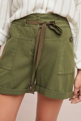 Utility High Waisted Shorts by Anthropologie
