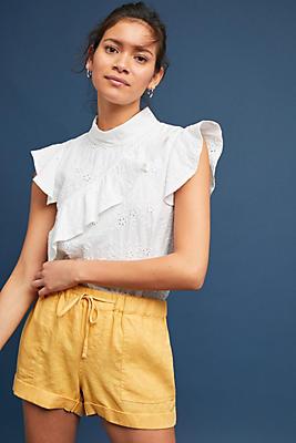 Slide View: 1: Sunshine Linen Shorts