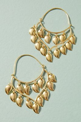 Becca Petal Hoop Earrings  -    GOLD