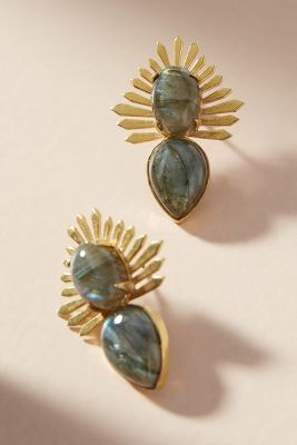Charna Post Earrings  -    WHITE