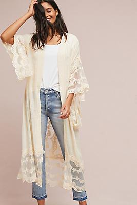 Slide View: 1: Julianna Gauze Kimono