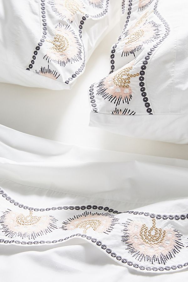 Embroidered Cypress Sheet Set | Anthropologie