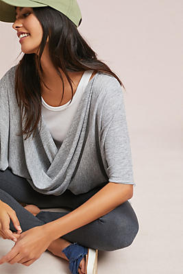 Slide View: 1: Twisted Knit Poncho