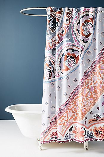 Unique, Modern & Boho Shower Curtains | Anthropologie
