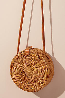 Slide View: 1: Lilian Woven Crossbody Bag