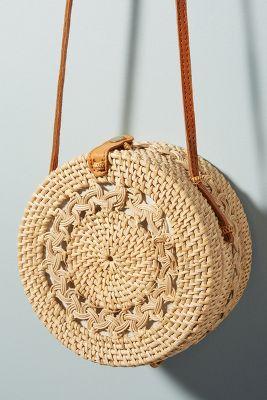 Rina Crocheted Crossbody Bag  -    IVORY