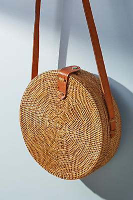 Slide View: 1: Marcia Woven Crossbody Bag