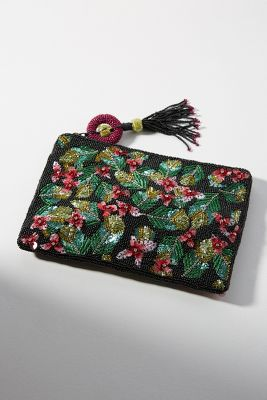 Botanical Embellished Clutch by Anthropologie