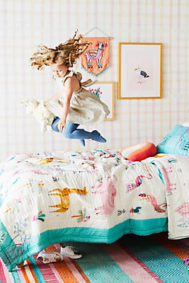 Slide View: 1: Paper & Cloth Safari Kids Quilt