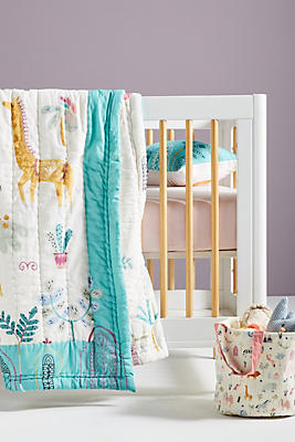 Slide View: 2: Paper & Cloth Safari Kids Quilt