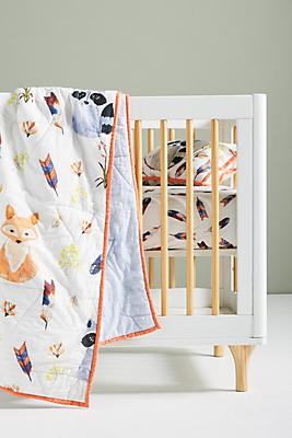 Slide View: 2: River Luna Woodland Kids Quilt