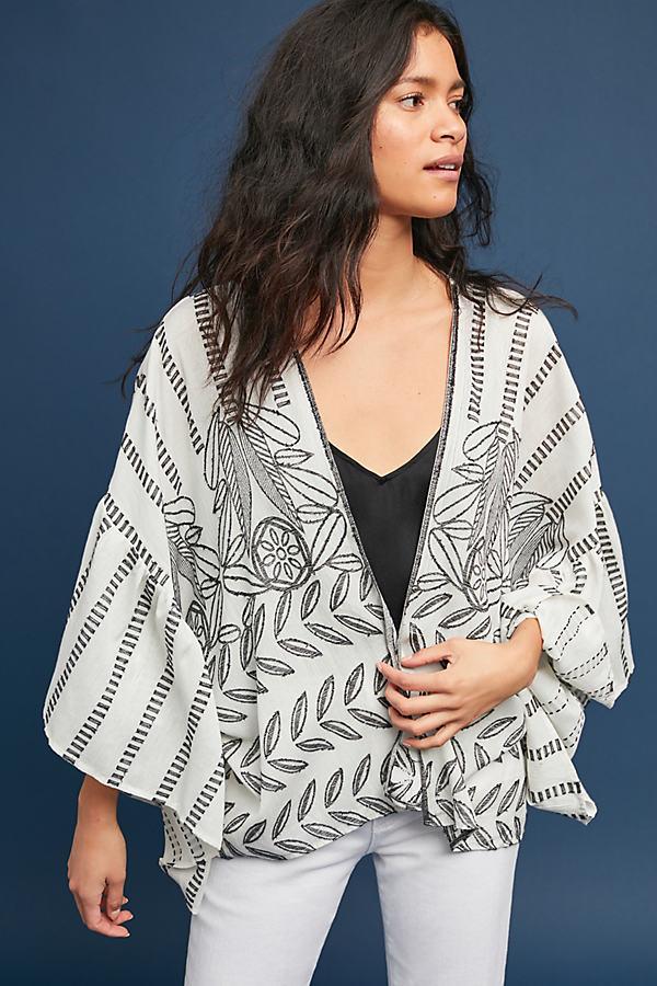 Annabella Ruffled Kimono - Assorted