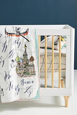 Slide View: 2: Linea Carta Around the World Kids Quilt