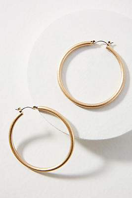 Anthropologie Tubular Hoop Earrings