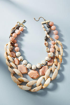 Anthropologie Afterglow Layered Resin Necklace 5tYUQ