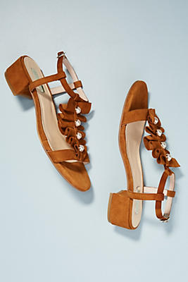 Elysess Pearled Heeled Sandals