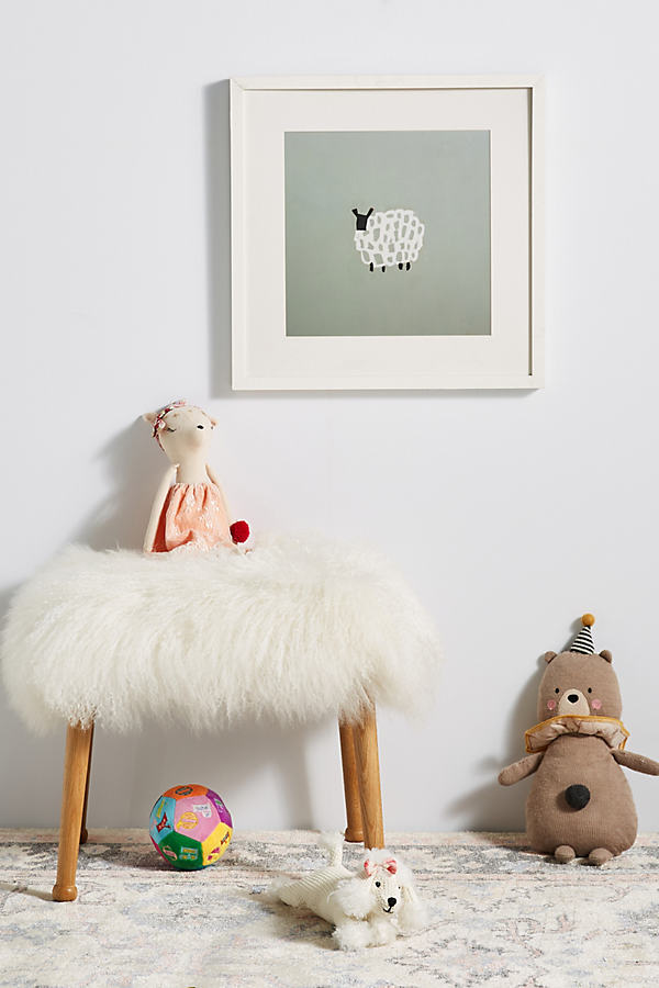 Little Lamb Wall Art - Blue