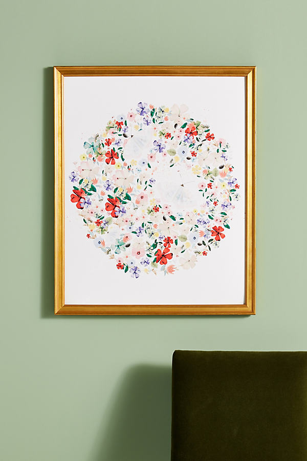 Moth Moon Wall Art - Red, Size M