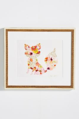 Pressed Flower Fox Wall Art 188