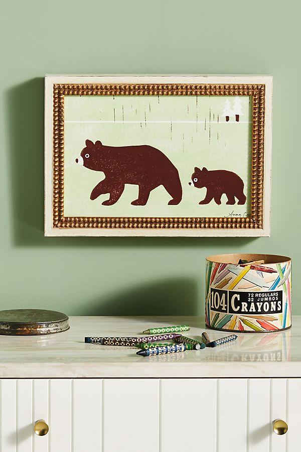 Slide View: 1: Brown Bears Wall Art